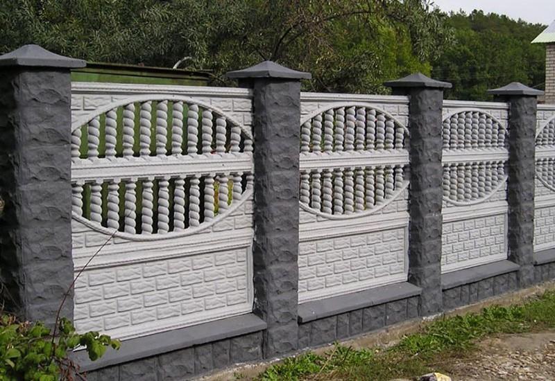 Забор из бетона. Еврозабор