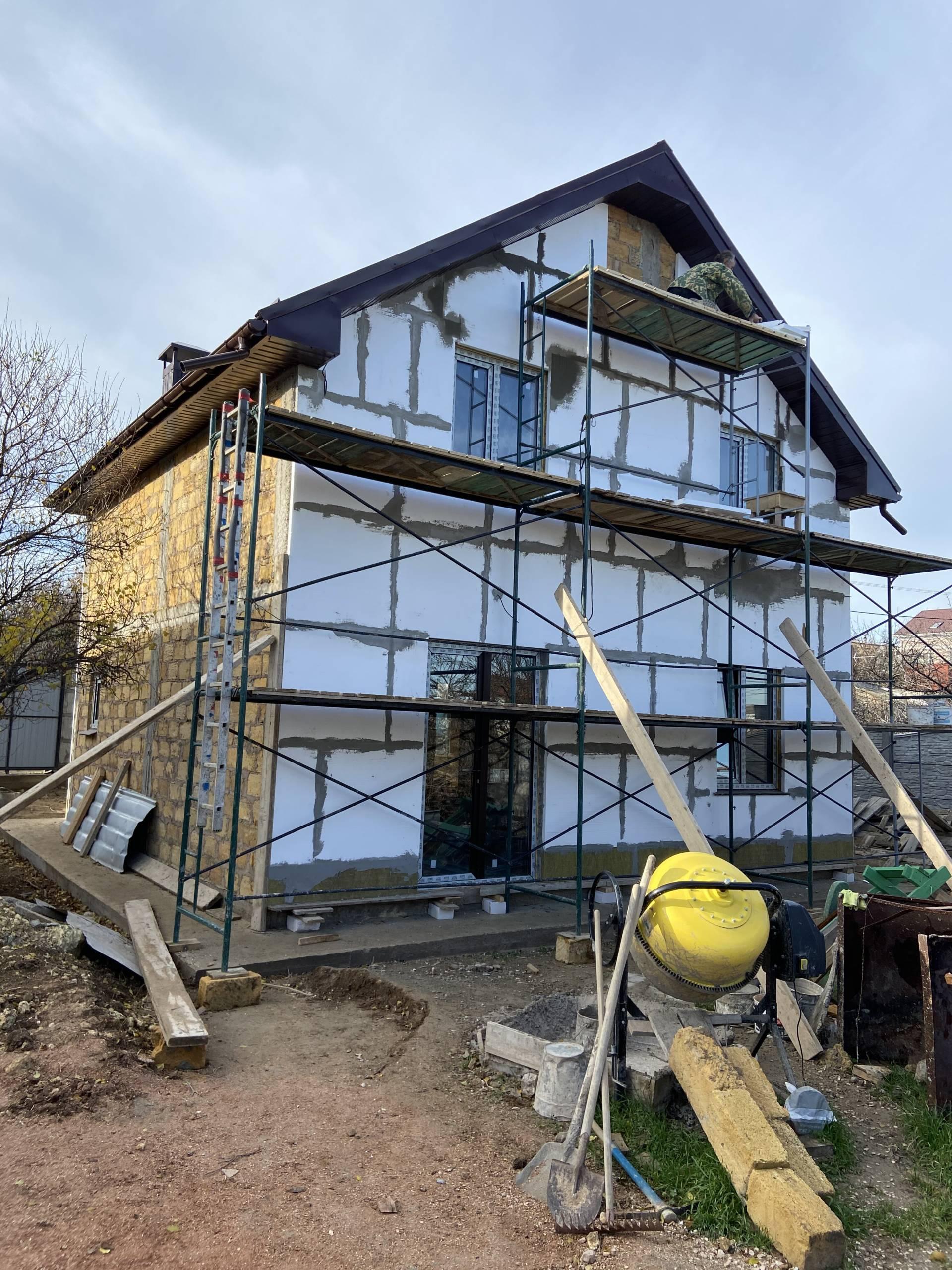 фасад готового дома в Севастополе
